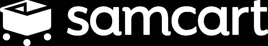 SamCart company logo in white